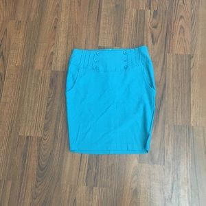 HAVE Blue Pencil Skirt